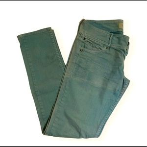 Vintage Wash Green Jeans from Bershka